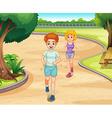 Jogging vector image