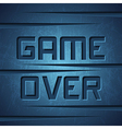 Message Game Over vector image