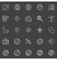 Navigation line icons vector image