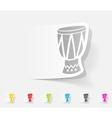 realistic design element drum vector image