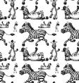 Seamless zeabra vector image