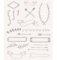 set of vintage design elements decoration vector image