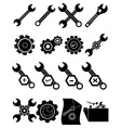 Settings gear icons set vector image
