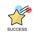 star with circle shape for success on white vector image