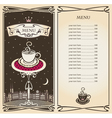 Royal menu vector image