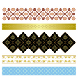 set of various ornaments vector image vector image