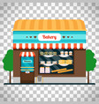 bakery shop front on transparent background vector image