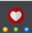 modern circle icons set on gray vector image