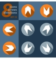 set of eight icons - with arrows vector image