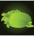 ecology border vector image vector image