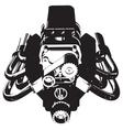 Hot Rod Engine vector image