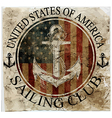 Newport sailing club artwork vector image