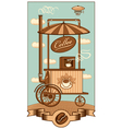 mobile coffee vector image
