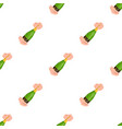 a bottle of champagne in hands champagne single vector image