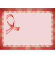 Awareness Red Ribbon3 vector image