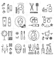 Beauty set line icons art cosmetic spa vector image