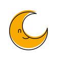 cute cartoon moon baby shower decoration vector image
