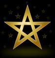 gold pentagram vector image