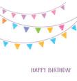 happy birthday card party design vector image