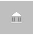 Justice court computer symbol vector image