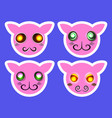 Set of cartoon character faces vector image