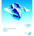 Skiing resort booklet vector image