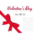Valentine s Day celebratory background vector image