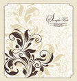 damask floral invitation vector image vector image