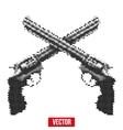 Revolvers vintage halftone style vector image