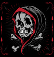 The Reaper and Bone Cross vector image