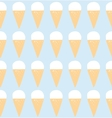 Seamless pattern with ice cream art vector image