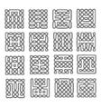 Set celtic or scandinavian element of pattern vector image