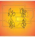 set of 4 mechanical schemes engineering vector image