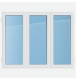 triple casement plastic window vector image