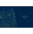 Night cityscape flat line vector image