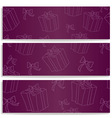 banners with gifts vector image vector image