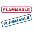 Flammable Rubber Stamps vector image