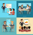 business meeting and presentation poster vector image