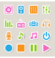 Music icon set EPS10 vector image vector image