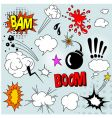 comic elements set vector image vector image