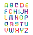 font from triangles with color transitions vector image