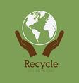 Ecology design over green background vector image