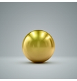 3D golden sphere vector image