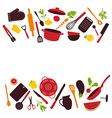 Kitchen tools background isolated vector image