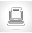 Online news icon flat line design icon vector image