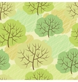 trees seamless pattern vector image vector image