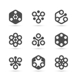 Abstract icon template for business vector image