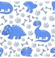 Dinosaur Rex seamless pattern vector image