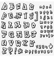 graffiti font design element vector image