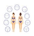 Plastic Surgery Woman Body Infographics vector image